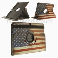 Housse etui coque pochette PU cuir pour Samsung Galaxy Tab 4 10.1 T530 + film ecran - USA