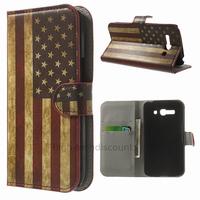Housse etui coque portefeuille PU cuir pour Alcatel One Touch Pop C9 7047D + film ecran - USA