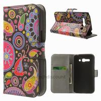 Housse etui coque portefeuille PU cuir pour Alcatel One Touch Pop C9 7047D + film ecran - PAISLEY
