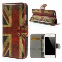 Housse etui coque pochette portefeuille PU cuir pour Apple iPhone 6S (4.7 pouces) + film ecran - UK