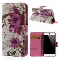 Housse etui coque pochette portefeuille PU cuir pour Apple iPhone 6S (4.7 pouces) + film ecran - LOTUS
