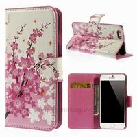 Housse etui coque pochette portefeuille PU cuir pour Apple iPhone 6S (4.7 pouces) + film ecran - CERISIER