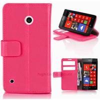 Housse etui coque pochette portefeuille PU cuir pour Nokia Lumia 530 + film ecran - ROSE