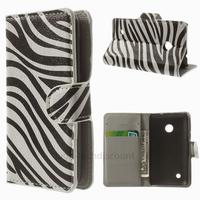 Housse etui coque pochette portefeuille PU cuir pour Nokia Lumia 530 + film ecran - ZEBRE