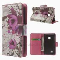 Housse etui coque pochette portefeuille PU cuir pour Nokia Lumia 530 + film ecran - LOTUS