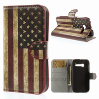 Housse etui coque portefeuille PU cuir pour Alcatel One Touch Pop C5 5036D + film ecran - USA