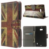 Housse etui coque pochette portefeuille PU cuir pour Nokia Lumia 930 + film ecran - UK
