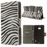 Housse etui coque pochette portefeuille PU cuir pour Nokia Lumia 930 + film ecran - ZEBRE