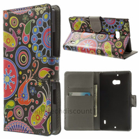 Housse etui coque pochette portefeuille PU cuir pour Nokia Lumia 930 + film ecran - PAISLEY