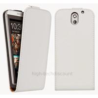 Housse etui coque pochette PU cuir fine pour HTC Desire 610 + film ecran - BLANC