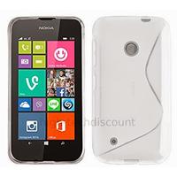 Housse etui coque pochette silicone gel fine pour Nokia Lumia 530 + film ecran - BLANC