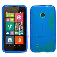 Housse etui coque pochette silicone gel fine pour Nokia Lumia 530 + film ecran - BLEU