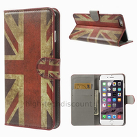 Housse etui coque portefeuille PU cuir pour Apple iPhone 6S Plus (5.5 pouces) + film ecran - UK