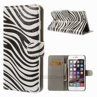 Housse etui coque portefeuille PU cuir pour Apple iPhone 6S Plus (5.5 pouces) + film ecran - ZEBRE
