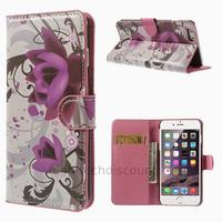 Housse etui coque portefeuille PU cuir pour Apple iPhone 6 Plus (5.5 pouces) + film ecran - LOTUS