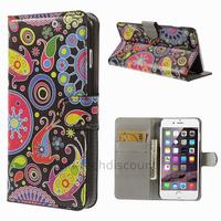 Housse etui coque portefeuille PU cuir pour Apple iPhone 6 Plus (5.5 pouces) + film ecran - PAISLEY