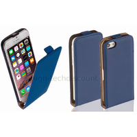 Housse etui coque pochette PU cuir fine pour Apple iPhone 6S (4.7 pouces) + film ecran - BLEU