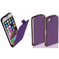 Housse etui coque pochette PU cuir fine pour Apple iPhone 6S (4.7 pouces) + film ecran - MAUVE