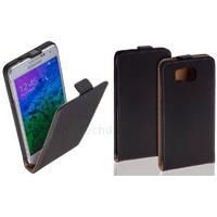 Housse etui coque pochette PU cuir fine pour Samsung Galaxy Alpha G850F + film ecran - NOIR