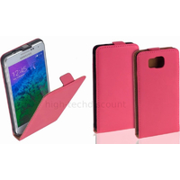 Housse etui coque pochette PU cuir fine pour Samsung Galaxy Alpha G850F + film ecran - ROSE