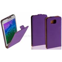 Housse etui coque pochette PU cuir fine pour Samsung Galaxy Alpha G850F + film ecran - MAUVE
