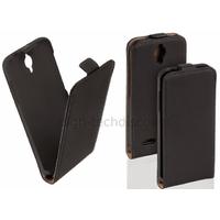 Housse etui coque pochette PU cuir fine pour Alcatel One Touch Idol 2S 6050 - NOIR