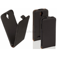Housse etui coque PU cuir fine pour Alcatel One Touch Idol 2 Mini S 6036 + film ecran - NOIR