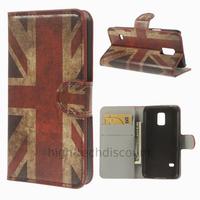 Housse etui coque portefeuille PU cuir pour Samsung Galaxy S5 Mini G800F + film ecran - UK