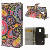 Housse etui coque portefeuille PU cuir pour Samsung Galaxy S5 Mini G800F + film ecran - PAISLEY