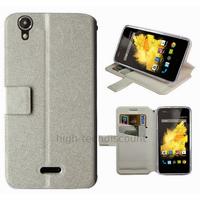 Housse etui coque pochette portefeuille pour Wiko Birdy 4G + film ecran - BLANC