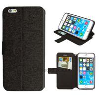 Housse etui coque pochette portefeuille pour Apple iPhone 6S Plus (5.5 pouces) + film ecran - NOIR