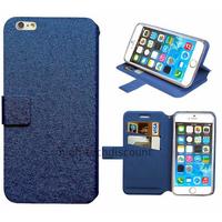 Housse etui coque pochette portefeuille pour Apple iPhone 6S Plus (5.5 pouces) + film ecran - BLEU