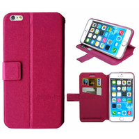 Housse etui coque pochette portefeuille pour Apple iPhone 6S (4.7 pouces) + film ecran - ROSE