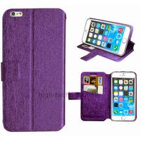 Housse etui coque pochette portefeuille pour Apple iPhone 6S Plus (5.5 pouces) + film ecran - MAUVE
