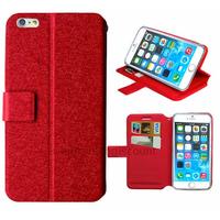 Housse etui coque pochette portefeuille pour Apple iPhone 6S Plus (5.5 pouces) + film ecran - ROUGE