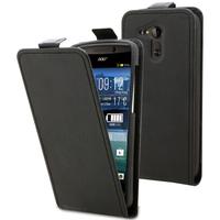 Housse etui coque pochette simili cuir fine pour Acer Liquid E700 + film ecran - NOIR
