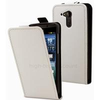 Housse etui coque pochette simili cuir fine pour Acer Liquid E700 + film ecran - BLANC