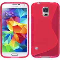 Housse etui coque silicone gel fine pour Samsung Galaxy S5 Mini G800F + film ecran - ROSE