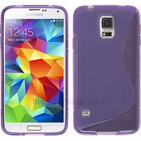 Housse etui coque silicone gel fine pour Samsung Galaxy S5 Mini G800F + film ecran - MAUVE