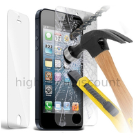 Film de protection vitre verre trempe transparent pour Apple iPhone 5 / 5S