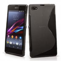 Housse etui coque pochette silicone gel fine pour Sony Xperia Z3 Compact + film ecran - NOIR