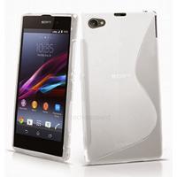 Housse etui coque pochette silicone gel fine pour Sony Xperia Z3 Compact + film ecran - BLANC