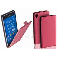 Housse etui coque pochette PU cuir fine pour Sony Xperia Z3 + film ecran - ROSE