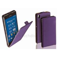 Housse etui coque pochette PU cuir fine pour Sony Xperia Z3 + film ecran - MAUVE