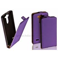 Housse etui coque pochette PU cuir fine pour LG G3 S (G3 Mini) + film ecran - MAUVE