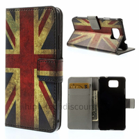 Housse etui coque portefeuille PU cuir pour Samsung Galaxy Alpha G850F + film ecran - UK