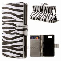 Housse etui coque pochette portefeuille PU cuir pour Sony Xperia Z3 Compact + film ecran - ZEBRE