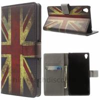 Housse etui coque pochette portefeuille PU cuir pour Sony Xperia Z3 + film ecran - UK