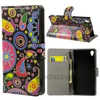 Housse etui coque pochette portefeuille PU cuir pour Sony Xperia Z3 + film ecran - PAISLEY