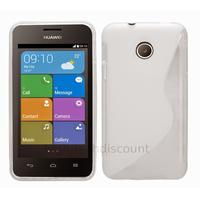 Housse etui coque pochette silicone gel fine pour Huawei Ascend Y330 + film ecran - BLANC